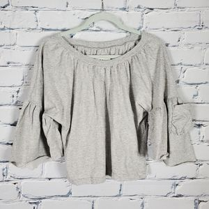 MM6 Maison Margiela Gray Shirt with Bell S…